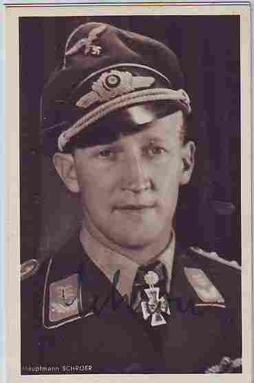 """Major Hans """"Assi"""" Hahn KC OL signed 6 x 4 wartime"""