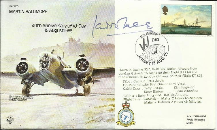 Laddie Lucas signed B35 Martin Baltimore Bomber cover