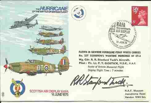 Wg CDR Robert Stanford-Tuck DSO DFC signed Hurricanes