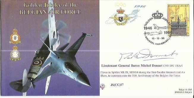 Gen Michel Donnet DFC signed Golden Jubilee of the