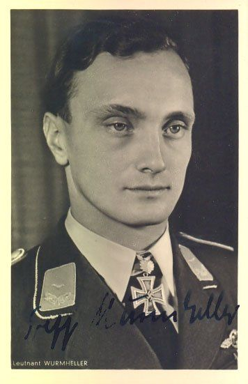 "Josef ""Sepp"" Wurmheller KC OL S signed 6 x 4 wartime"