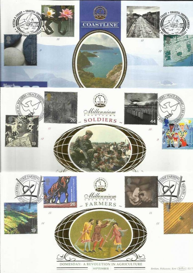 Benham Millennium 1999/2000 official FDC collection of