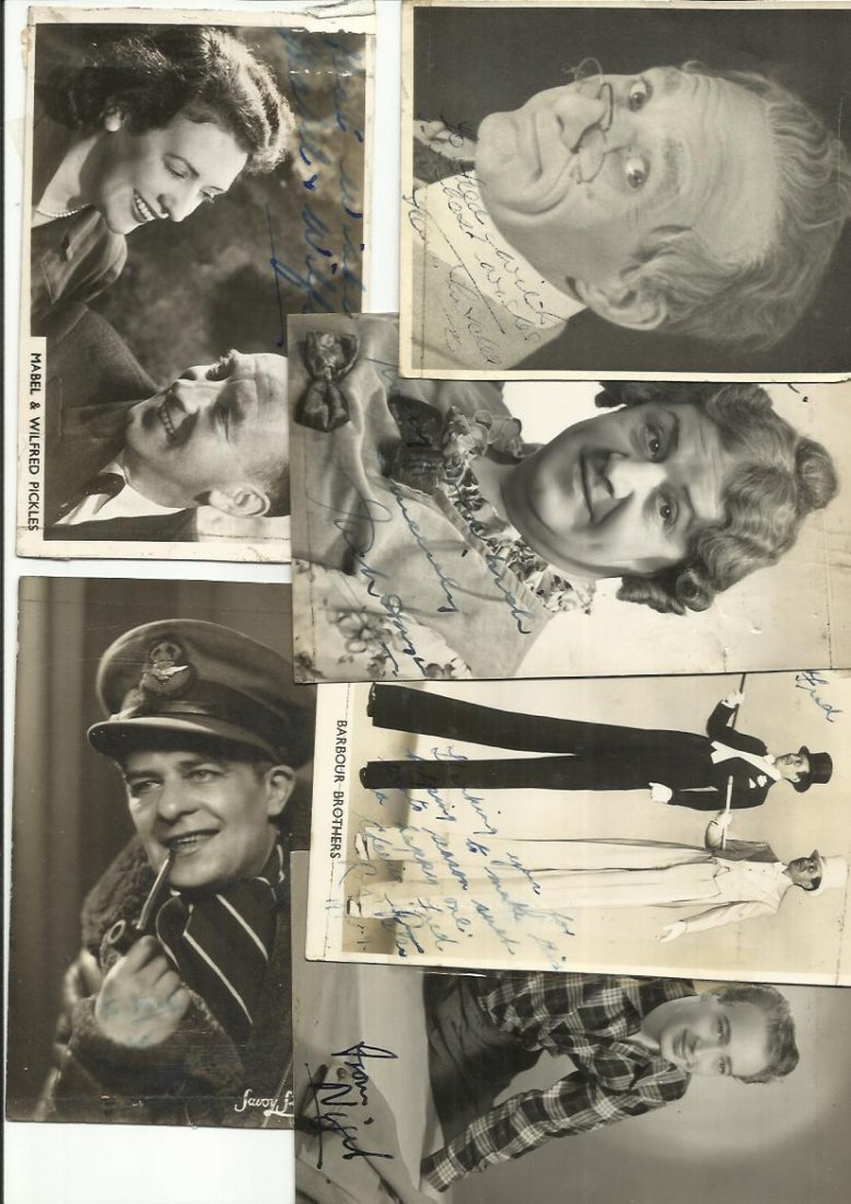 Vintage Actors signed photo collection. Nine signed