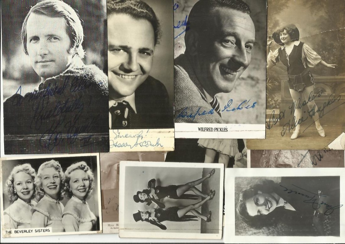 Vintage Entertainment signed photo collection. Eleven