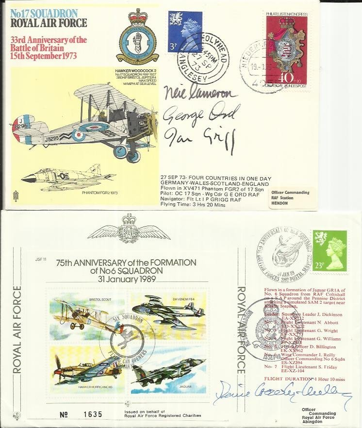 Battle of Britain collection, two covers signed by BOB
