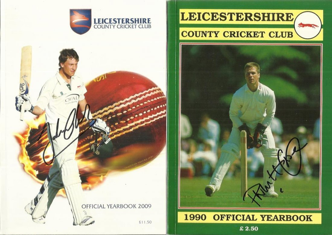 Leicestershire Cricket Year Books, 9 in total, two are