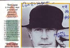 Henry Jaglom signed and dedicated to Elizabeth flyer.