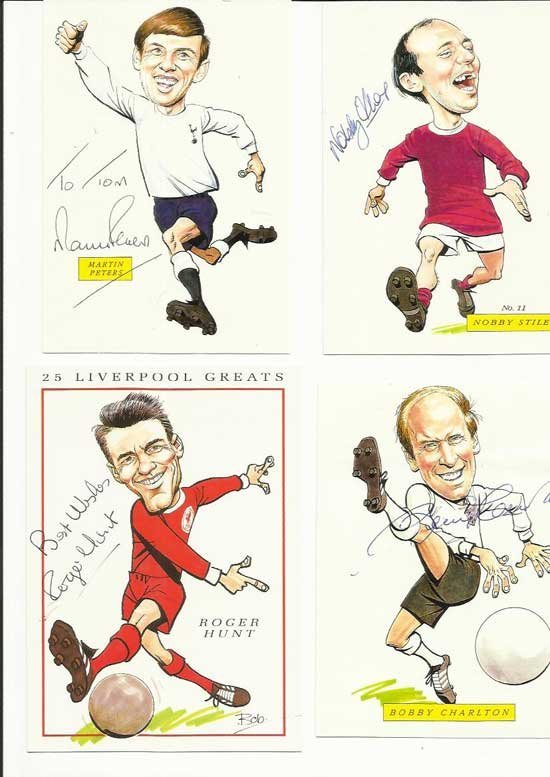 1966 World Cup Signed  collection of Ten signed small
