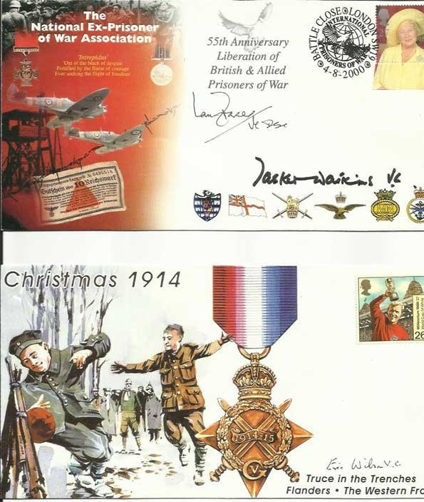 Victoria Cross signed collection of four Military
