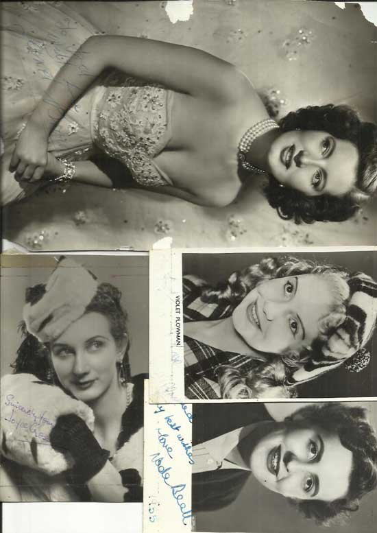 Vintage Actresses signed photo collection. Eighteen