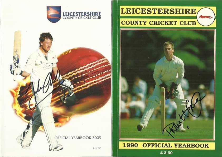 Leicestershire Cricket Year Books, 9 in total , two are