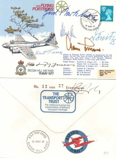 Incredible WW2 German VIPs multi-signed cover RAF AD/26
