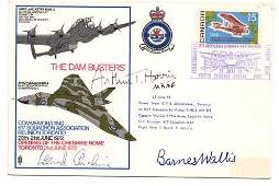 The Dambusters multisigned RAF cover MRAF Arthur T