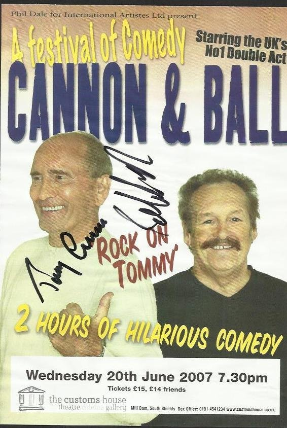 Cannon & Ball comedy duo signed colour promo leaflet