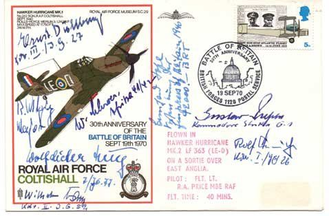 Luftwaffe WW2 Fighter aces Hans Rossbach multi-signed