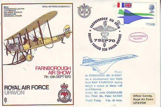 RAF Upavon cover SC1, flown by Concorde 002 Good