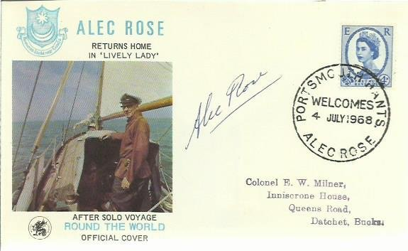 Alec Rose- signed on his own 1968 Solo Round The World