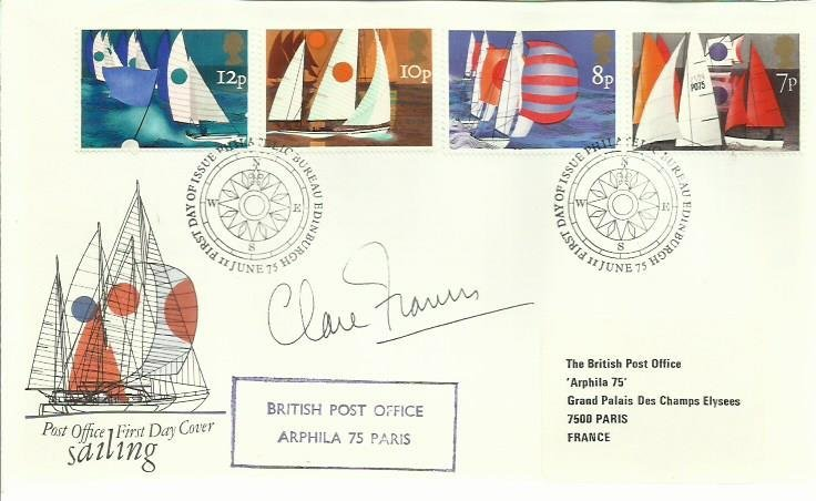 Claire Francis signed 1975 Sailing FDC British Post