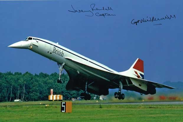 Jeremy and Neil Rendell Concorde Pilots 12 X 8 signed