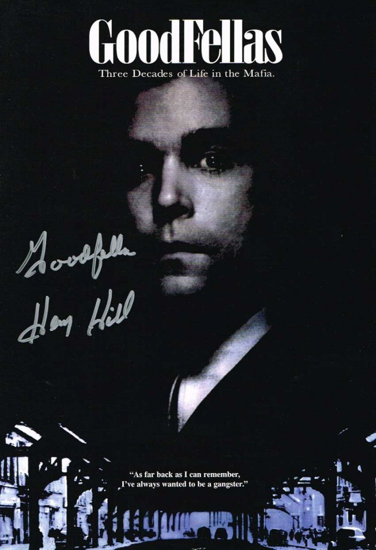 Henry Hill Real Goodfellas Signed 17 X 11 Poster. Good