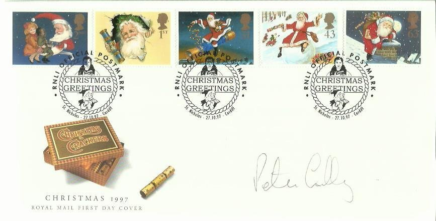 Peter Bruce Lilley signed Xmas FDC 1997. Only 7 issued.