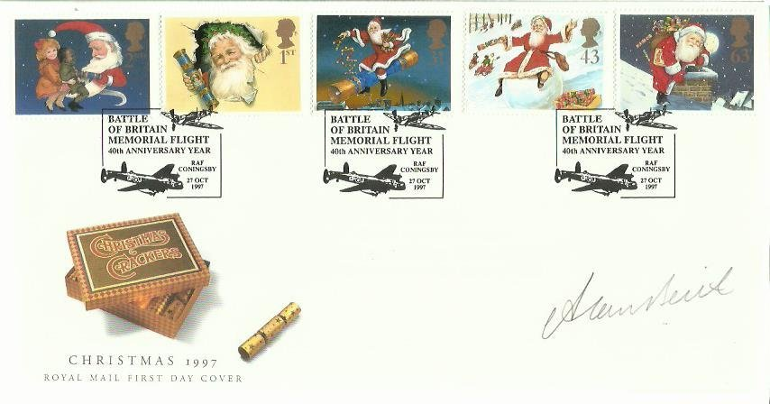 Alan Beith signed Xmas FDC 1997. Only 7 issued. Liberal