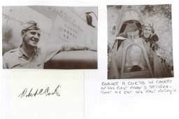 Major Robert A. Curtis USAF Signature on Card. 2nd
