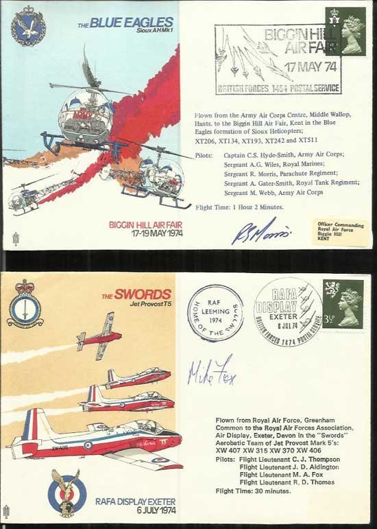 40 Air Display pilot signed series covers in Large