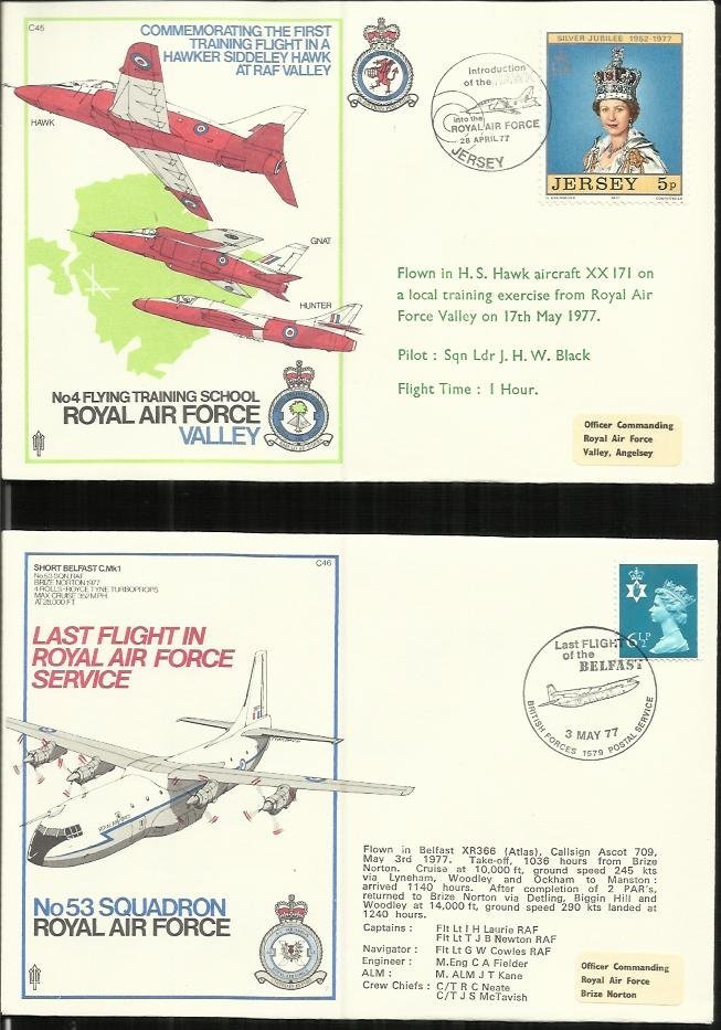 90+ Co-Ordinated, Test Pilots series flown covers in