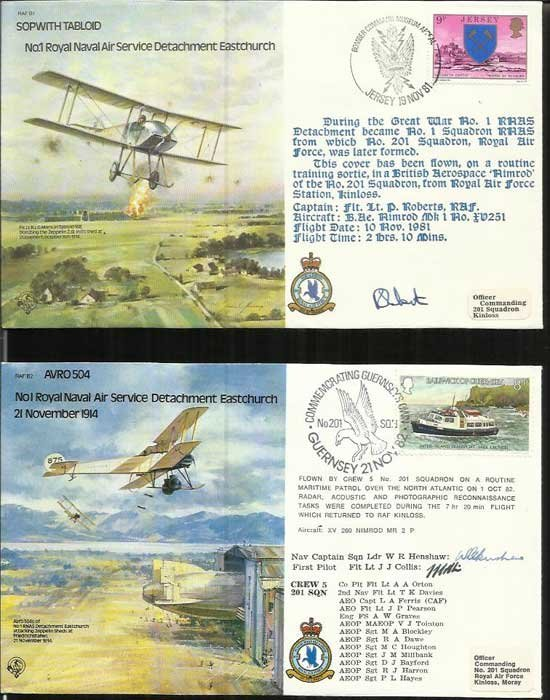 45 Bomber Command series pilot signed covers in superb
