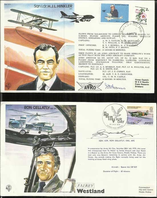 40 Test Pilots Special signed series covers in superb