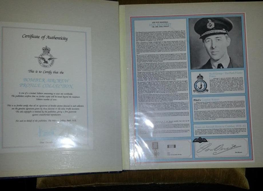 RAF Bomber Command Collection Signed Profiles -Each set