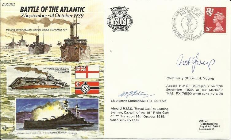 JS/50/39/2c -Battle of Atlantic, flown by 8 sqn. Signed