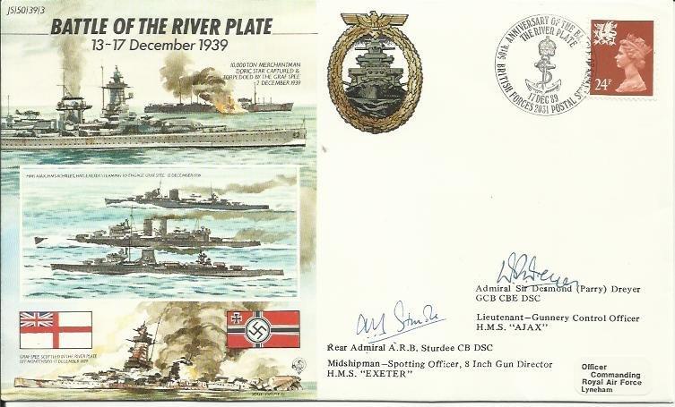 JS/50/39/3c -Battle of River Plate, flown by Hercules.