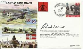 JS50445 V1 Flying Bomb Attacks signed by V2 ace