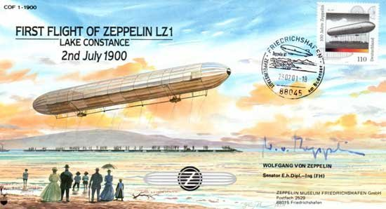 Wolfgang von Zeppelin FIRST FLIGHT of ZEPPELIN LZ 1