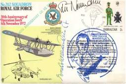 Top WW2 Luftwaffe aces signed RAF 202 Sqn FDC signed
