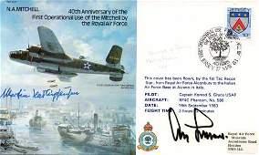 Top WW2 Luftwaffe aces RAF FDC 40th Anniversary
