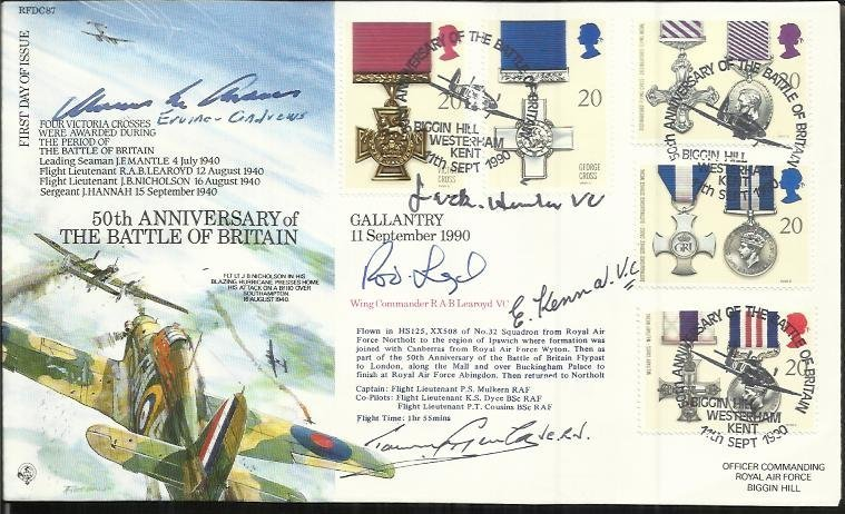 50th ann Battle of Britain Multisigned RFDC87 Official