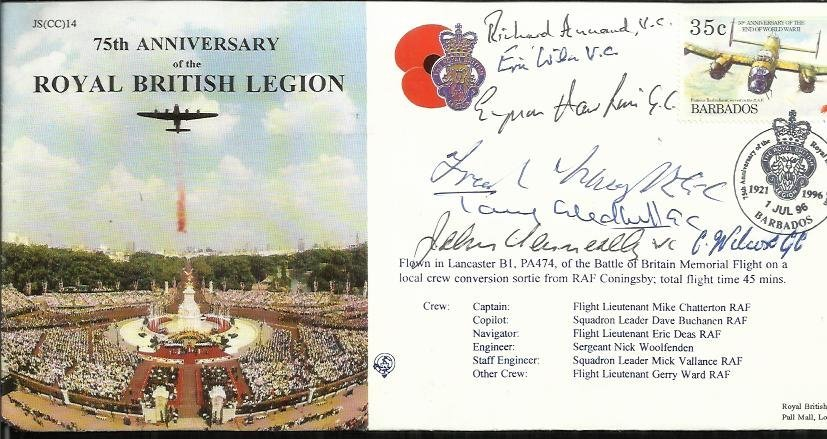 VC, GC winners signed 75th Ann Royal British Legion
