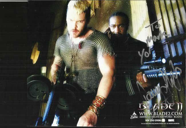 Danny John-Jules signed stunning Blade II 10 x 8 colour
