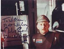 Michael Sheard as Admiral Ozzell in Star Wars signed 10