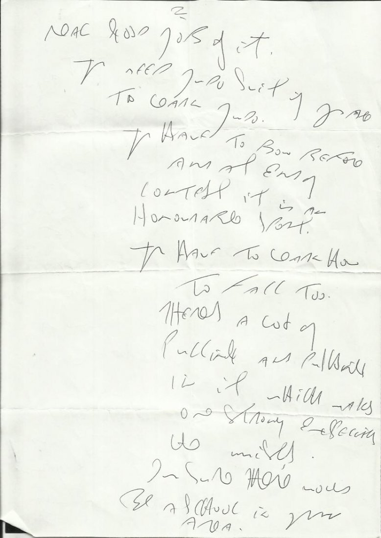 Reggie Kray handwritten four page letter to Brad Lane - 2