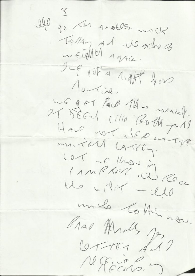 Reggie Kray handwritten four page letter to Brad Lane - 3