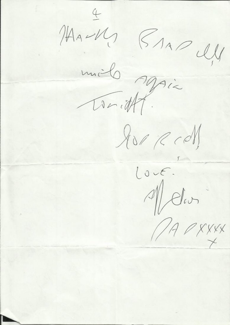 Reggie Kray handwritten four page letter to Brad Lane - 4