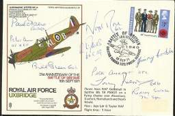 Battle of Britain Multisigned Tony Iveson, Peter