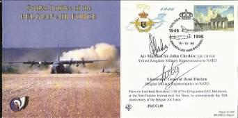 Air Marshall Sir J Cheshire, Lt Gen R Hoeben NATO VIPs