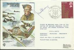 "Squadron Leader James ""Ginger"" Lacey DFM* autographed"