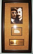 Orville & Wilbur Wright Signature Piece Framed And