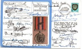 26 WW2 VIPs signed Mentioned in Dispatches FDC. 26